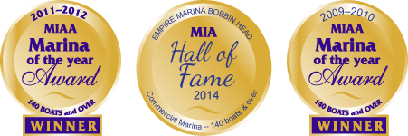 Marina of the Year awards at Empire Marinas Bobbin Head