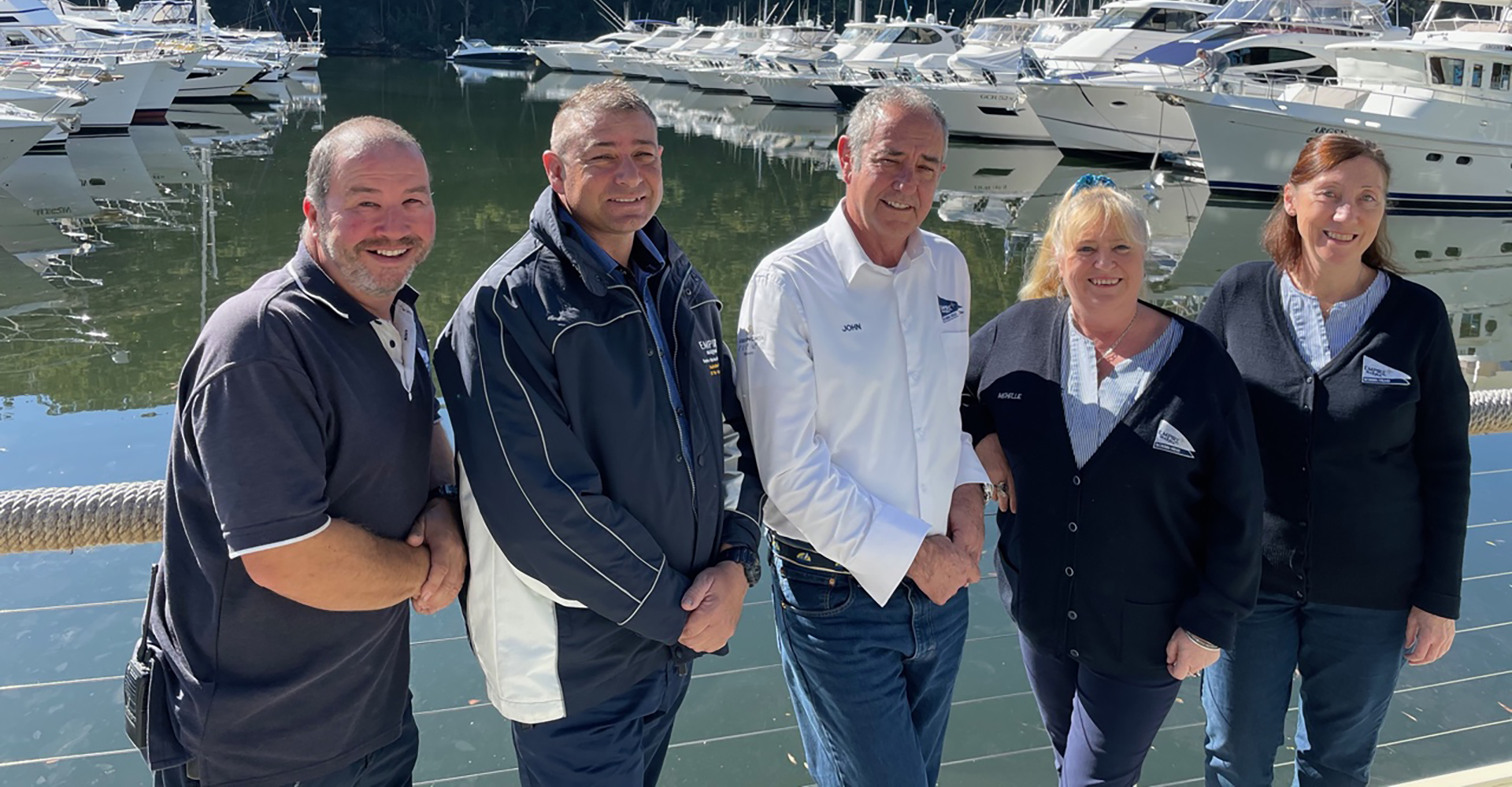 The Empire Marina team